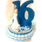 Sweet 16 Party Centerpiece Cake Topper with Number