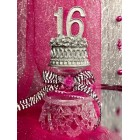 Sweet 16 Centerpiece Cake Topper Favor Table Decoration Keepsake