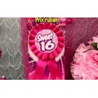 Sweet 16 Birthday Party Prize Ribbon Badge Girls Party Favor Favors Party