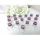 Plastic Candle Holder Favor Table Display Decoration 16 Ct