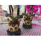 Hand Crafted Leopard Print Corset party Favors for Bridal Shower Sweet 16 Mis Quince Anos