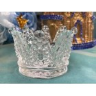 Glass Tiara Crown Cake Topper Favor Decoration for Sweet 16 Mis Quince Anos Prince Princess Theme Birthday