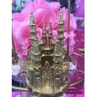 Gold Fairytale Castle Wedding Sweet 16 Birthday All Occasion Cake Topper or Party Favor Keepsake