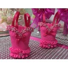 Hand Crafted Pink Print Corset party Favors for Bridal Shower Sweet 16 Mis Quince Anos