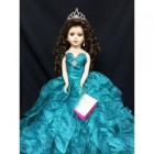 Sweet 16 Birthday Centerpiece Doll Turquoise