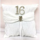 Sweet 16 Birthday White Tiara Pillow with Rhinestone Number Reception Party Supplies