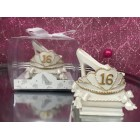 Sweet 16 Princess Tiara and Shoe Party Favor Keepsake