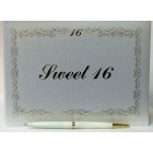 Sweet 16 Guest Book with Gold Letters