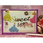 Sweet 16 Princess Guest Book Hand-Crafted Design