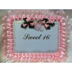 Sweet 16 Guest Book with Flowers
