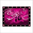 Sweet 16 Glitter Invitation