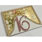 Sweet 16 Guest Book with Rhinestone Number Guest Book Signature Keepsake