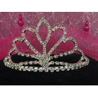 Pointed Silver Rhinestones Tiara Princess Crown Sweet 16 15th Birthday