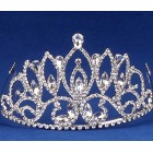 Pointed Rhinestone Tiara Sweet 16 Mis Quince Corona or Wedding Princess Crown