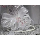 Large White Sheer Bow for Wedding Pews Tables Flower Girl Baskets and Other Projects