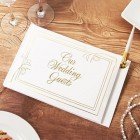 Gold Lettering Our Wedding Guests Guest Book
