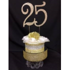 25th Anniversary or Birthday Cake Topper Keepsake