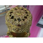 Wedding Traditional Jewelry Round Shaped with Jewels Box Arras with 13 Coins
