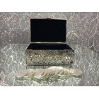 Wedding Traditional Arras Silver Jewelry Box with 13 silver Coins