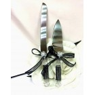 Wedding Cake Knife & Server Set White Flower