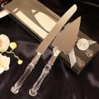 Wedding Heart Shaped Cake Server & Cake Knife Set