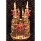 Gold Castle Cake Topper Centerpiece Gift Birthday Wedding All Occasion Keepsake 9""