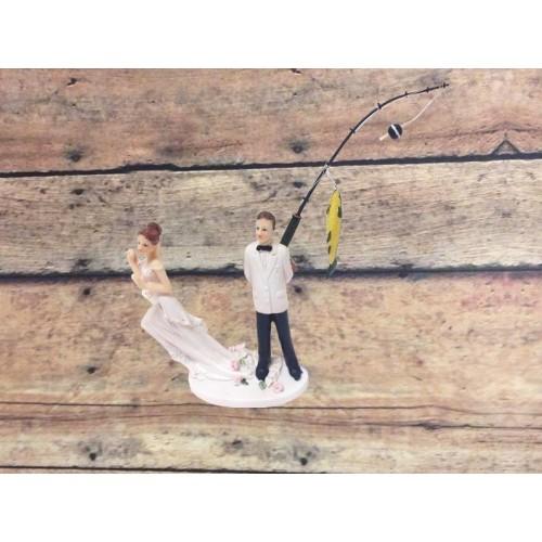 Rather Be Fishing Wedding Cake Topper