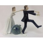 New Dallas Cowboys Football Bride and Groom Wedding Figurine