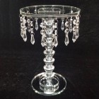 Crystal Beaded Glass Cake Centerpiece Stand 12 in H x 8 in W