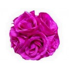 "Rose 7"" Flower Ball Centerpiece Decoration Fuchsia"