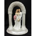 Brides Lesbian Gay Couple Under Flower Arch Cake Topper
