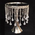 Crystal Garland Silver Cake Stand Decoration