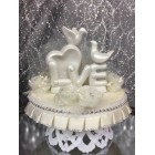Wedding White Doves Centerpiece Cake Topper Decoration