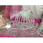 White Wire Coach Carriage Table Centerpiece Cinderella Wedding Sweet 16 Party Supply Decoration