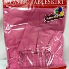 "Fuchsia Rectangular Plastic Table Skirt 29"" x 14'"