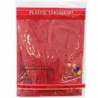 """Red Rectangular Plastic Table Skirt 29"""" x 14'"""