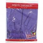 "Purple Rectangular Plastic Table Skirt 29"" x 14'"