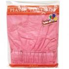 "Pink Rectangular Plastic Table Skirt 29"" x 14'"
