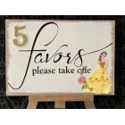 Beauty and The Beast Belle Favors Wood Decoration for Tables Birthday All Sweet 16