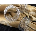 Clear Plastic Napkin Rings for Birthdays Weddings Sweet 16 Quinceanera All Occasions