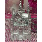 "4 1/2"" Silver Fairytale Castle Cake Top Centerpiece for Birthday Wedding Sweet 16"