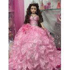Wedding Bridal Sweet 16 Mis Quince Anos Pink Doll Centerpiece Keepsake
