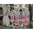 Bride to Be Wedding Party Plastic Tiara with Boa Keepsake Gift