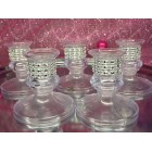 Plastic Candle Holders Sweet 16 Decorations Silver