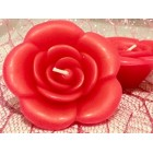 Rose Floating Candles 6 Ct Fuchsia