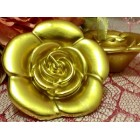 Rose Floating Candles 6 Ct Gold