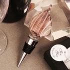 Brown Teardrop Design Arte Murano Bottle Stopper