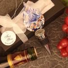 Royal Blue Teardrop Design Arte Murano Bottle Stopper