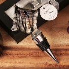 Black Lined Diamond Design Arte Murano Bottle Stopper