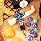 Blue Toast by the Sea Arte Murano Bottle Stopper